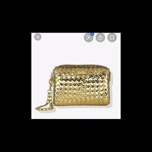 Tarte Limited Edition Makeup Gold Bag New